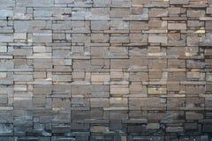 黑砂岩瓦片墙壁装饰 免版税库存照片