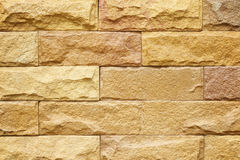砂岩砖墙 免版税库存照片