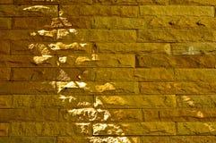砂岩砖背景 免版税库存图片
