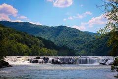砂岩秋天,新的河峡谷 图库摄影