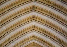 砂岩被成拱形的门层数弯曲了在关闭的样式  库存图片