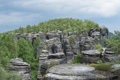 砂岩风景墙壁 免版税库存图片