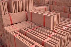 砂岩建筑销售的捆绑堆 图库摄影