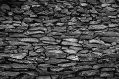 砂岩黑色石墙  图库摄影