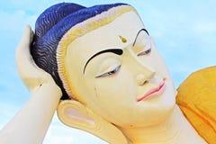 砂海螂Tha Lyaung斜倚的菩萨, Bago,缅甸 免版税库存图片