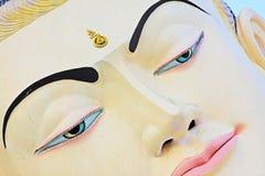 砂海螂Tha Lyaung斜倚的菩萨, Bago,缅甸 免版税库存照片