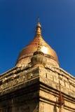 砂海螂Zedi塔,在缅甸(Burmar)的Bagan 图库摄影