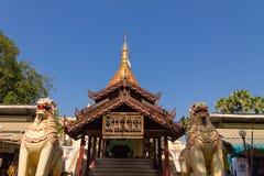 砂海螂Zedi塔,在缅甸(Burmar)的Bagan 免版税图库摄影