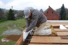 砌砖工重要资料 库存照片
