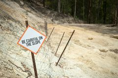砍伐森林的作用 图库摄影
