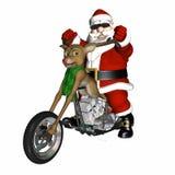砍刀概念驯鹿s圣诞老人 库存图片