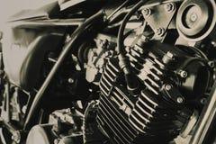 砍刀褐色葡萄酒口气老Motocycle引擎  免版税库存照片