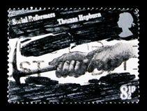 砍成的煤炭托马斯Hepburn,社会改革者serie,大约1976年 免版税库存照片