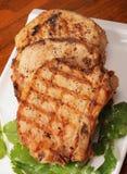 砍烤的猪肉 免版税库存照片
