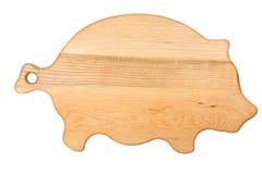 砍猪形状的董事会 免版税图库摄影