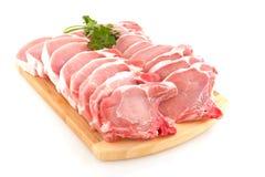 砍猪肉 免版税库存图片