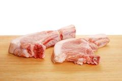砍猪肉 库存图片