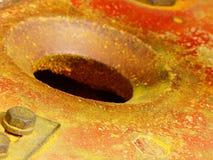 研的姜黄和辣椒粉在斋浦尔市场上 库存图片