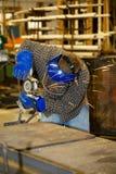研的金属焊工 库存图片