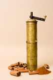 研磨机香料葡萄酒 库存图片