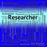 研究员会集数据和分析的工作展示 免版税库存照片