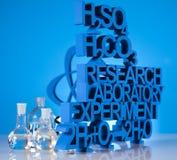 研究和实验,化学惯例 免版税库存图片