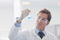 研究和科学人在实验室 免版税库存图片