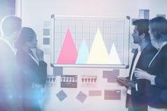 研究图表的企业队的综合图象 免版税库存照片
