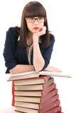研究女孩 免版税库存图片