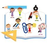 研究工具和孩子 免版税库存照片