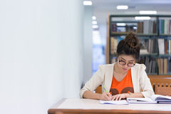 研究教育,写纸的妇女 免版税库存照片