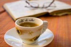 研究断裂用浓咖啡咖啡 库存图片
