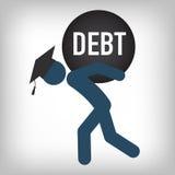 研究生贷款象-学生教育经济援助的贷款图表或协助、政府贷款和债务 皇族释放例证