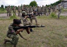 研究训练领土defensive_10的独立小分队 免版税库存照片