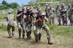 研究训练领土defensive_10的独立小分队 库存图片