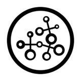 研究象在白色背景和标志隔绝的传染媒介标志,研究商标概念 皇族释放例证