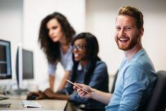 研究项目和编程在公司中的软件工程师 库存照片