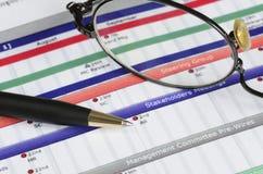 研究项目计划 免版税库存图片