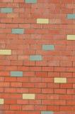 砖五颜六色的墙壁 免版税库存照片
