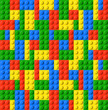 砖儿童lego玩具 库存图片