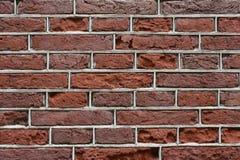 砖分开红色石墙 免版税库存照片