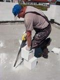 砖剪切 免版税库存照片