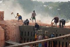 砖厂印地安人 库存图片