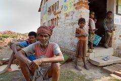 砖厂印度人工 库存图片