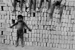 砖厂子项印度 库存图片