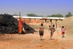 砖厂的子项在印度 图库摄影