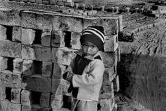 砖厂的子项在印度 免版税库存图片