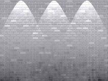 砖发光了墙壁白色 免版税库存照片
