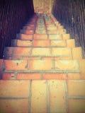 砖台阶 免版税库存照片