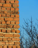 砖和天空背景  图库摄影